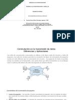 Conmutación en la transmisión de datos, diferencias y aplicaciones
