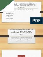 Grupo 3.- Normas Internacionales de Auditoría 265-300-315-320