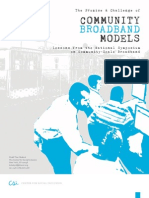 The Promise and Challenge of Community Broadband Models (March 2011)