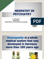 Homeopathy in Psychiatry
