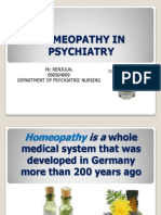 Homeopathy in Psychiatry