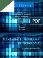 Planeando El Programa de Tecnologia