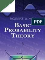 Ash Basic Probability Theory (Dover)