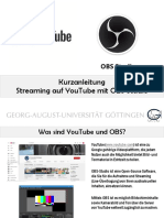 Stream Youtube Und OBS
