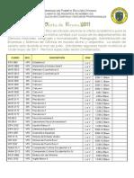 Oferta de Verano 2011 en la UPR de Utuado