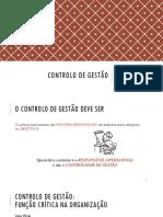 CONTROLO DE GESTÃO