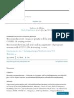 Recomendaciones y manejo práctico de la gestante con COVID-19_ scoping review - ScienceDirect