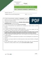 Ficha de Reconhecimento TIC 3C