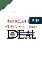 Bando Masterclass DEAL 2021