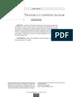 Artigo - AS IDEIAS DE VIGOTSKI E O CONTEXTO ESCOLAR