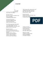 Cantec - Licuriciul