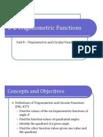 8-2 Trigonometric Functions (Presentation)