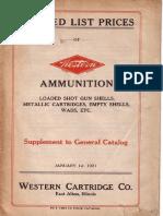 Каталог Фирмы Western Cartridge Co.-1921 (США) (Оф)