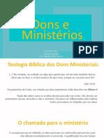 Apresentação 2_ Dons e ministérios