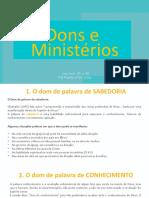 Apresentação 4_ Dons e ministérios