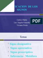 CLASIFICACION DE LOS SIGNOS