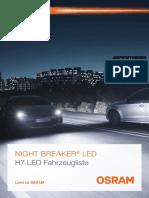 LED Night Breaker H7 Vehicle List (DE)