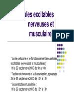 UE 2-1 Cellules excitables nerveuses et musculaires partie I
