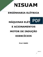 2018- MÁQUINAS ELÉTRICAS E ACIONAMENTOS - Motor de Indução Trifásico - EXERCÍCIOS