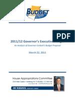 House Democrats Analysis of FY 2011-12 Corbett Budget