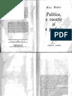 Weber - Politica o vocatie si o profesie