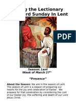 Living the Lectionary - Third Sunday in Lent
