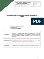 Procedimiento Investigación de Incidentes y Accidentes de Tr