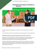 11/02/2021 Astudillo Entrega Computadoras Para Apoyar a Docentes en Guerrero