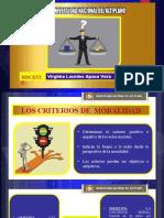 LOS CRITERIOS DE MORALIDAD