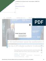 El informe que la saliente fiscal de la CPI dejó sobre Colombia - Unidad Investigativa - ELTIEMPO.COM
