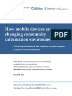 How mobile devices are changing community information environments