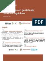 Presentacioìn Taller Regional Residuos Orgaìnicos 20210324