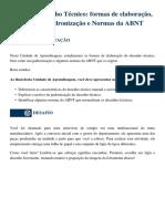 2.1 - Desenho Técnico - Formas de Elaboração, Padronização e Normas Da ABNT