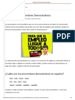Ejemplo de Pronombres Demostrativos