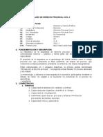 Silabo Derecho Procesal Civil II (1)