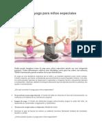 El Poder Del Yoga Para Niños Especiales