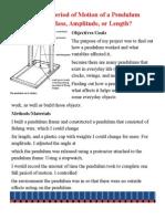Pendulum Science Experiment