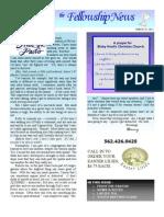 March 23, 2011 Fellowship News