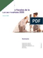 Les Mesures Fiscales de la Loi de Finances 2020_Fidaroc Grant Thornton