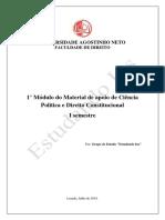 1° Módulo do Material de apoio de Ciência Política e Direito Constitucional - I semestre