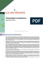 RIF - Présentation Investisseurs - Septembre 2019