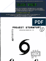 Project Stormfury - Operation Order No. 1-70