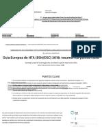 Guía Europea de HTA (ESH_ESC) 2018_ resumen de puntos clave - Atención Primaria
