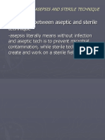 PRIN. OF ASEPSIS and STERILE TECHNIQUE