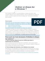 Comment Initialiser Un Disque Dur Externe Sous Windows