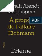 A propos de l'affaire Eichmann