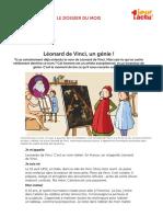 Leonarde de Vinci - vie