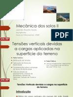 Mecânica dos solos II - Aula4_Tensôes_verticais_carregamentos_superficie