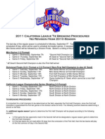 2011 California League Playoff Schedule
