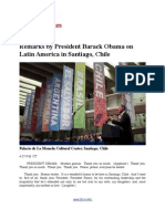 Remarks by President Barack Obama on Latin America in Santiago Chile